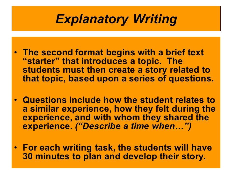 Explanatory Writing