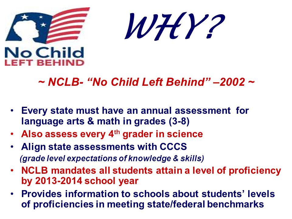 ~ NCLB- No Child Left Behind –2002 ~
