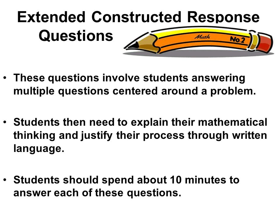 Extended Constructed Response Questions