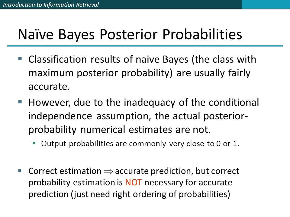 Naïve Bayes Posterior Probabilities