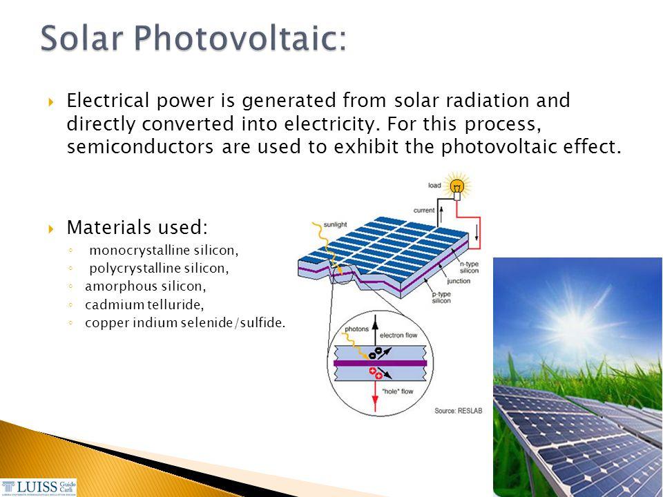 Solar Photovoltaic:
