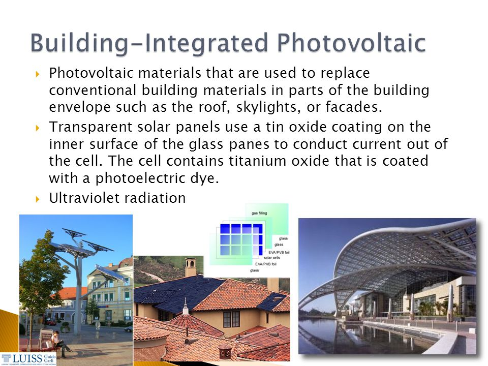 Building-Integrated Photovoltaic