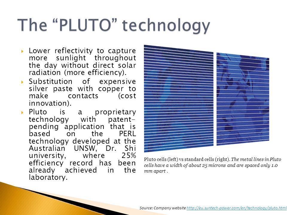 The PLUTO technology