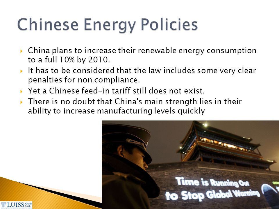Chinese Energy Policies