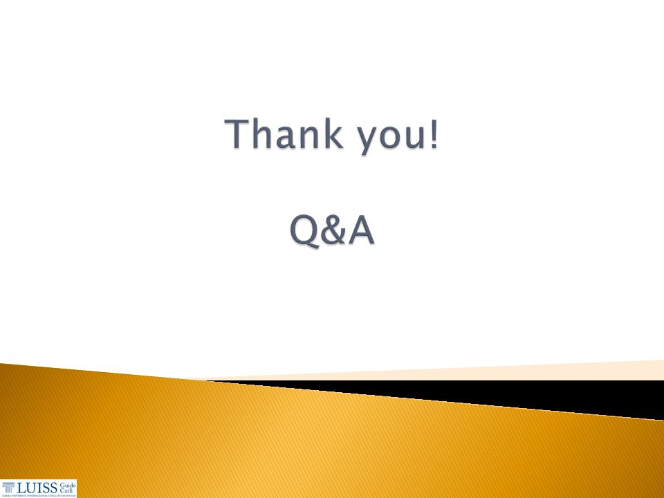 Thank you! Q&A