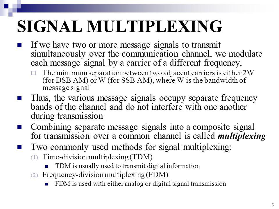 SIGNAL MULTIPLEXING
