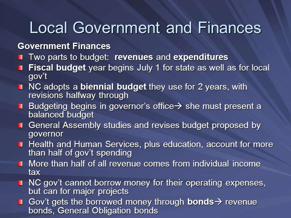 Local Government and Finances