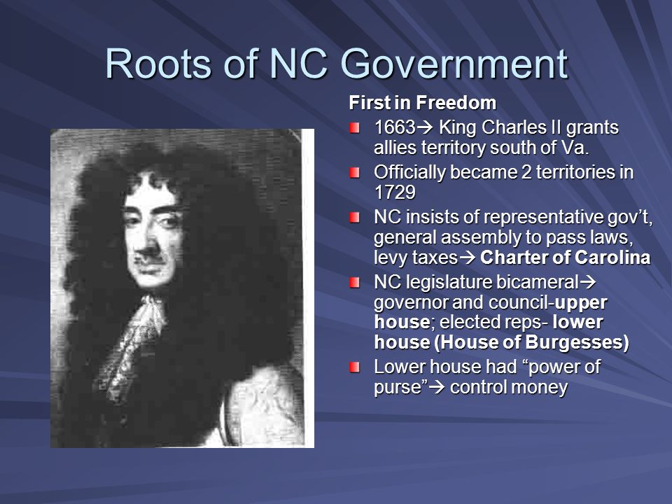 Roots of NC Government First in Freedom