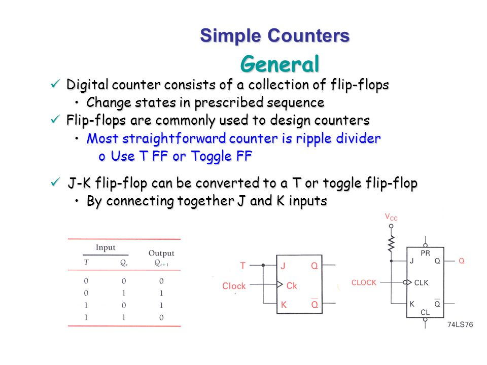 General Simple Counters