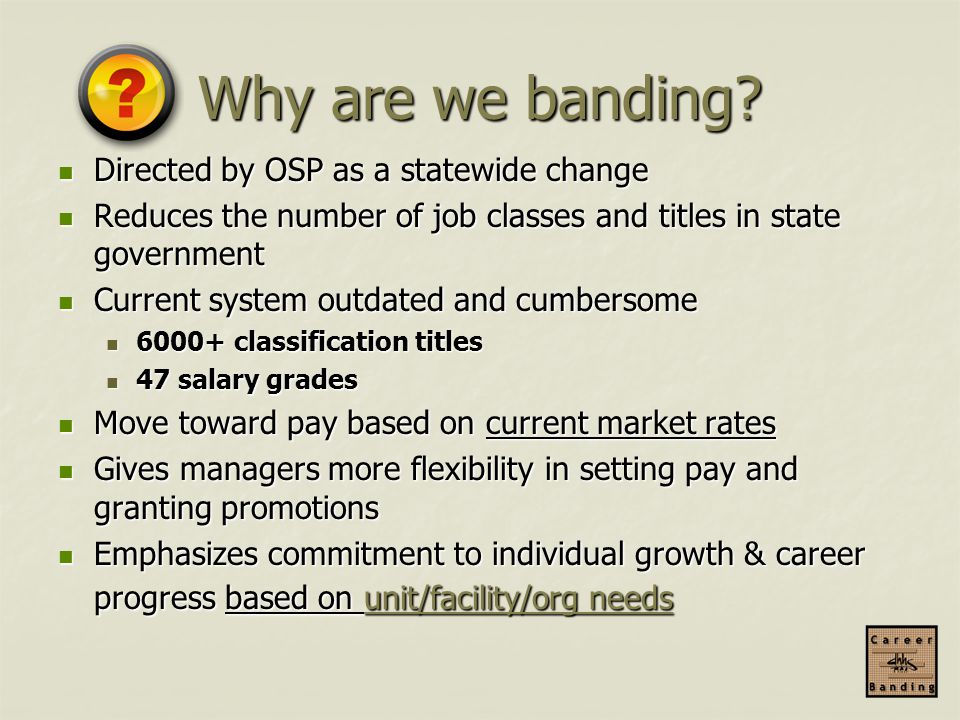 Why are we banding Directed by OSP as a statewide change