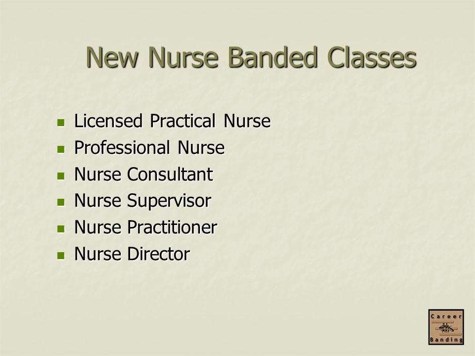 New Nurse Banded Classes