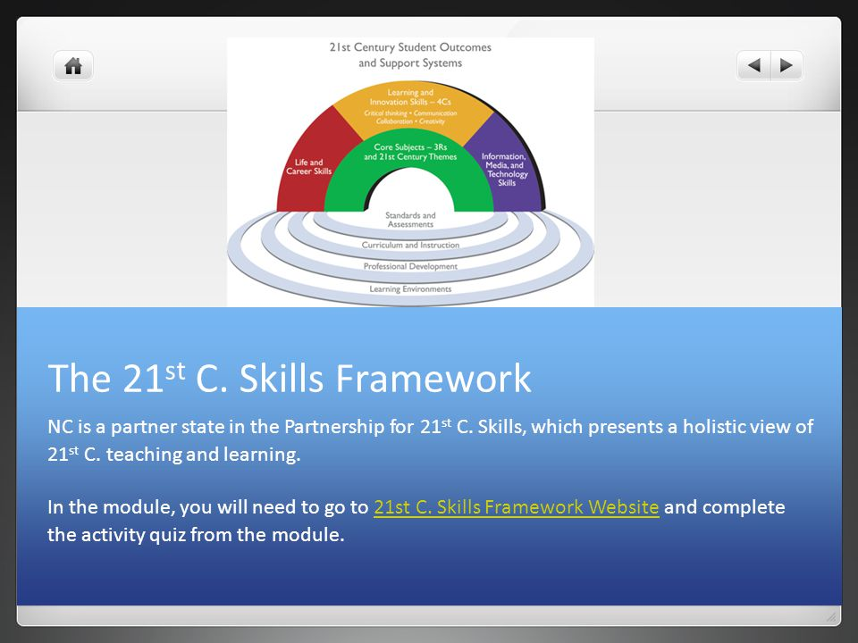 The 21st C. Skills Framework