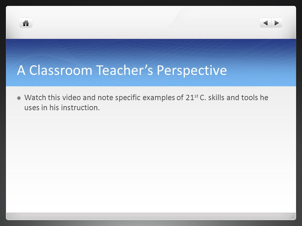 A Classroom Teacher's Perspective