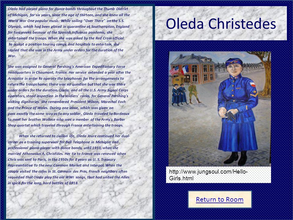 Oleda Christedes Return to Room