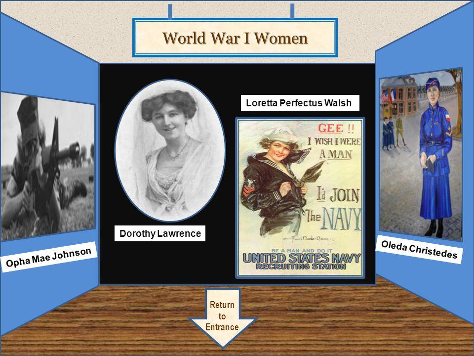 World War I Women Loretta Perfectus Walsh Dorothy Lawrence