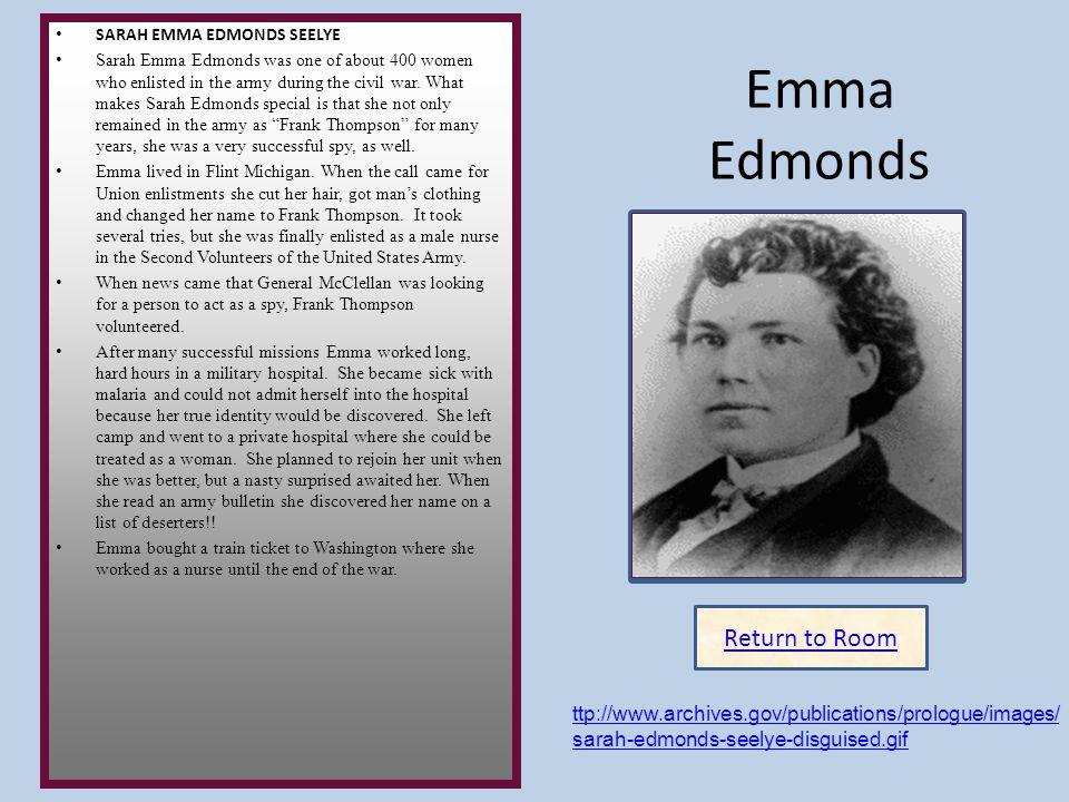 Emma Edmonds Insert artifact here Return to Room