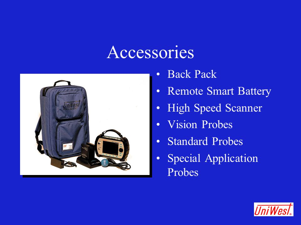 Accessories Back Pack Remote Smart Battery High Speed Scanner