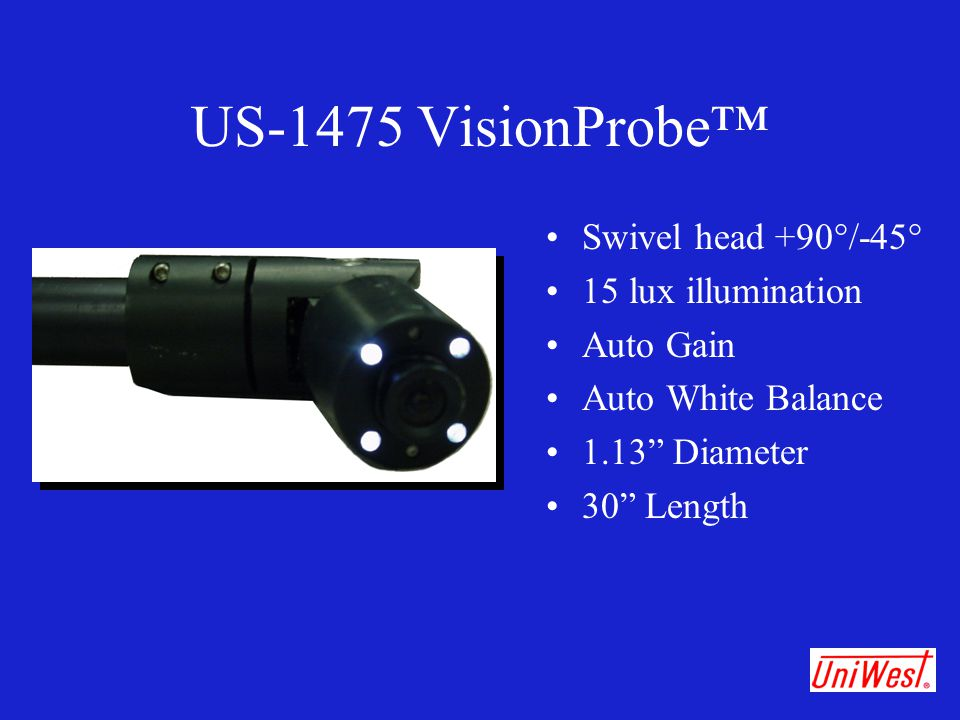 US-1475 VisionProbe™ Swivel head +90°/-45° 15 lux illumination