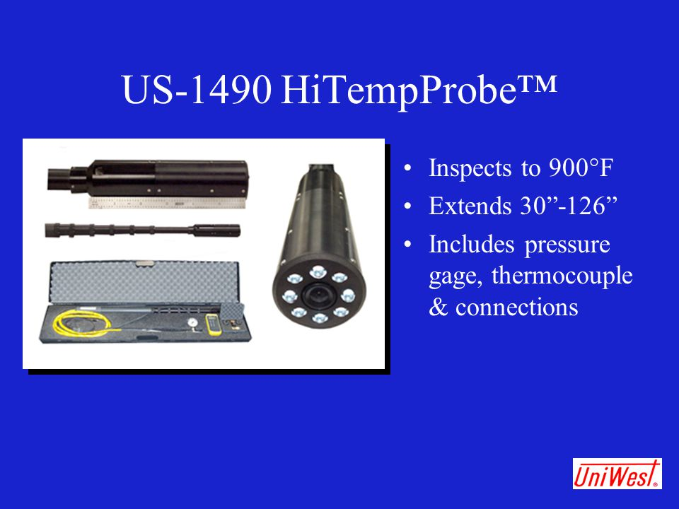 US-1490 HiTempProbe™ Inspects to 900°F Extends