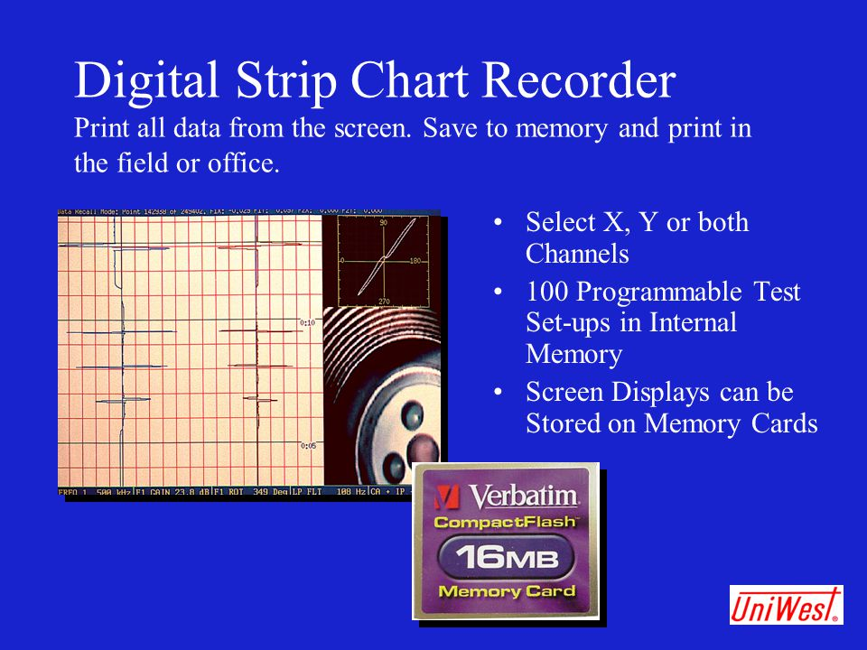 Digital Strip Chart Recorder Print all data from the screen