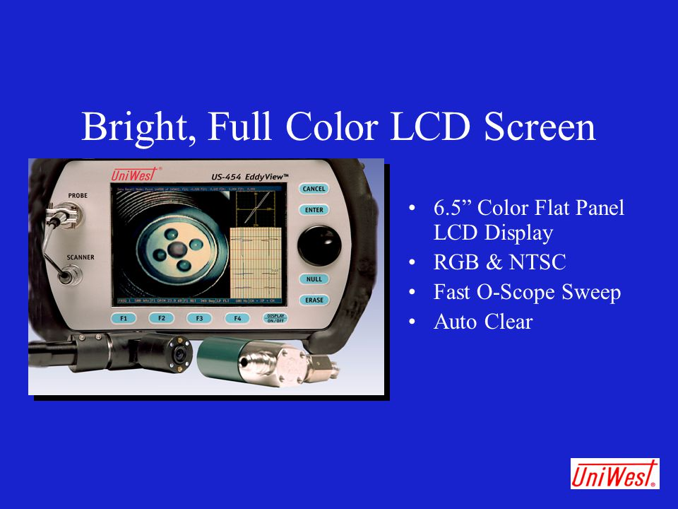 Bright, Full Color LCD Screen