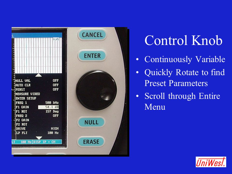 Control Knob Continuously Variable