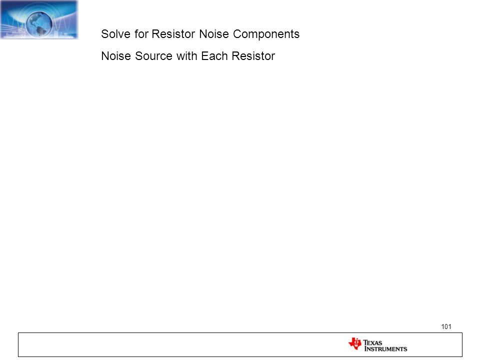 Solve for Resistor Noise Components
