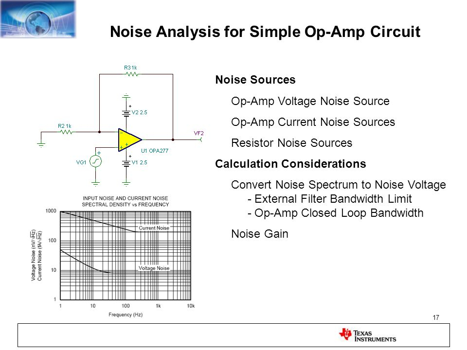 Noise Analysis for Simple Op-Amp Circuit