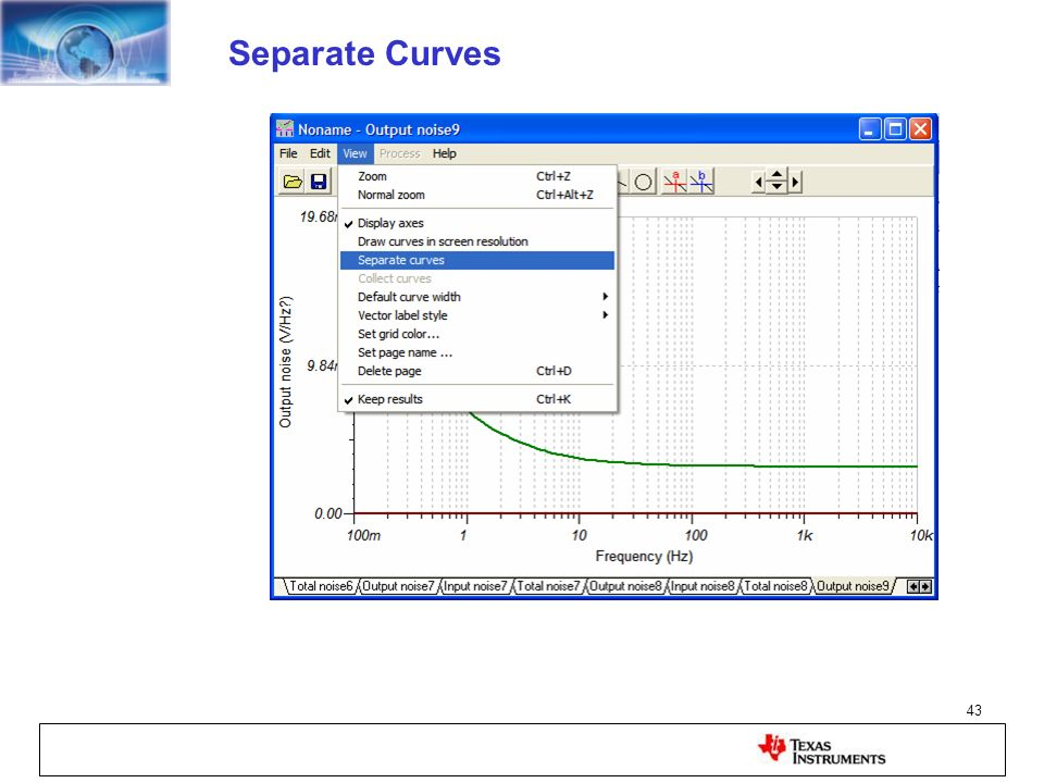 Separate Curves