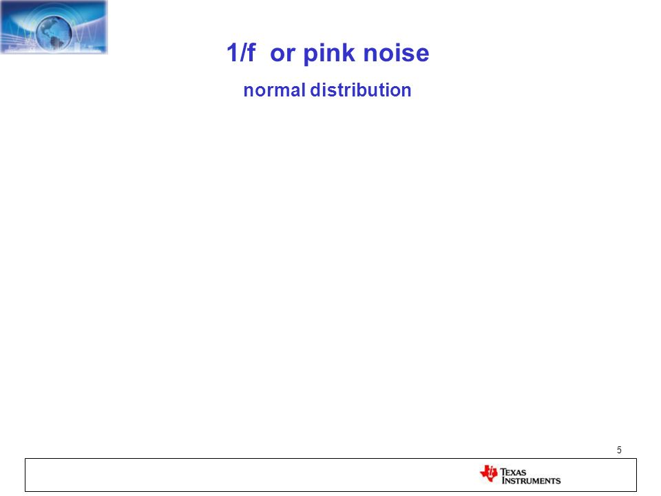 1/f or pink noise normal distribution