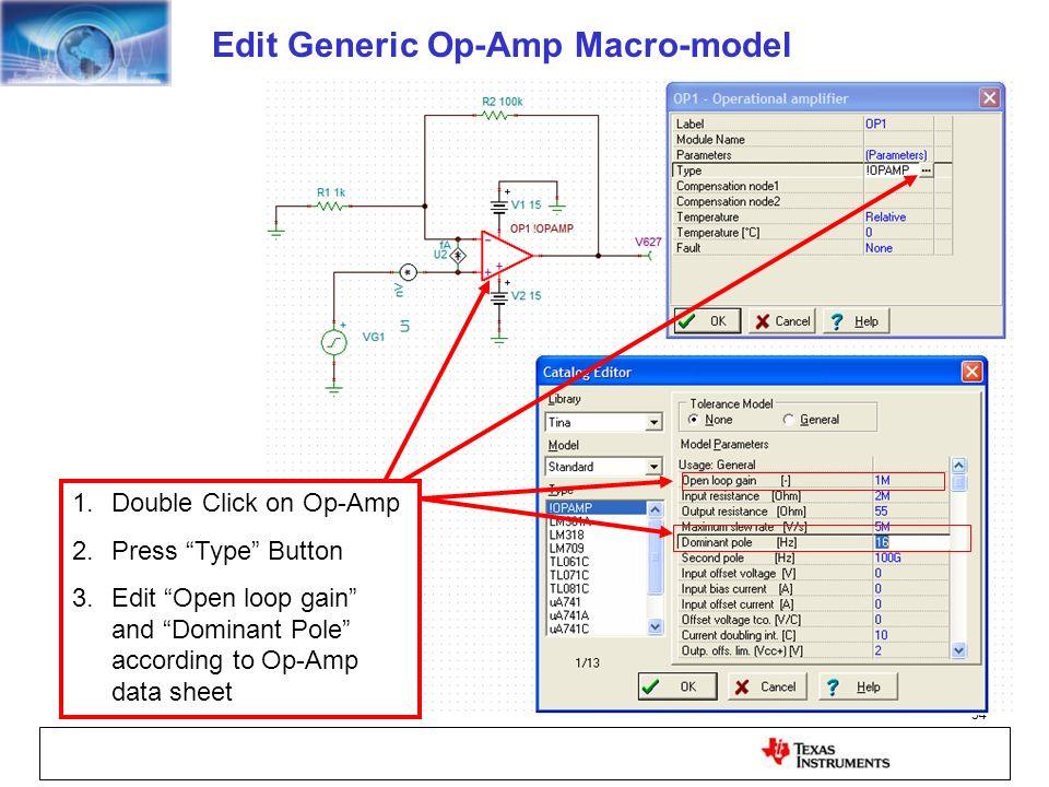 Edit Generic Op-Amp Macro-model