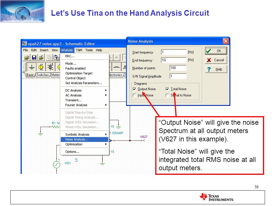Let's Use Tina on the Hand Analysis Circuit