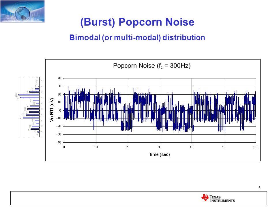 Bimodal (or multi-modal) distribution