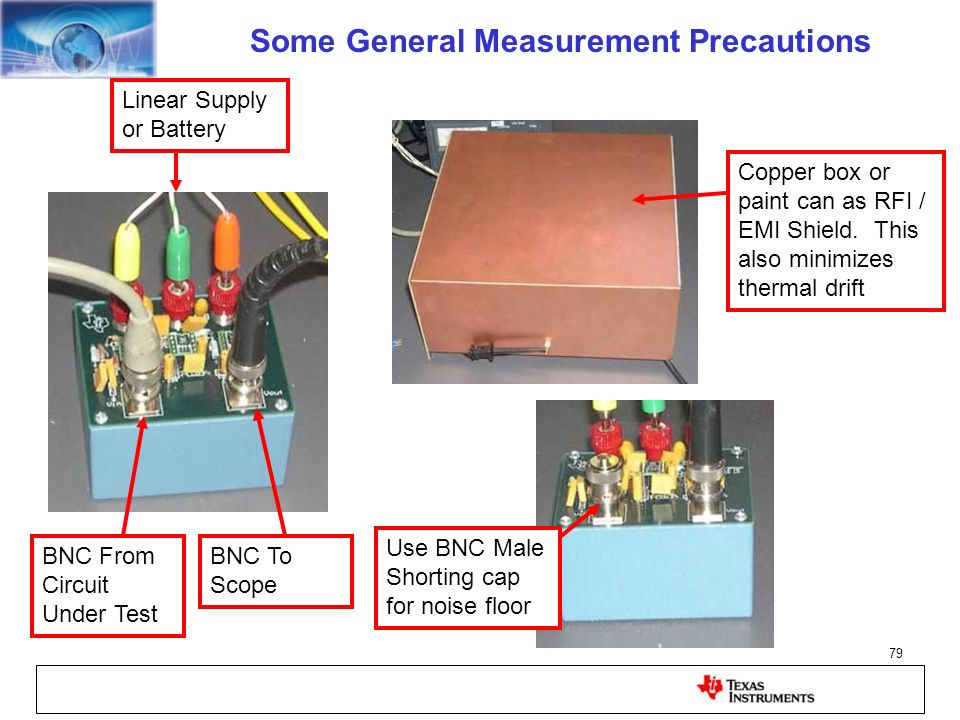 Some General Measurement Precautions
