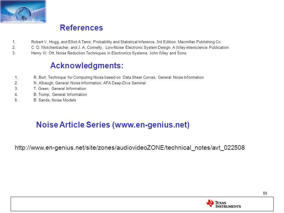 Noise Article Series (www.en-genius.net)