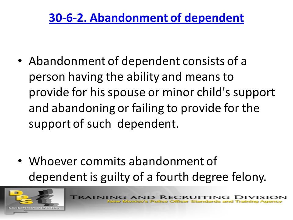 30-6-2. Abandonment of dependent