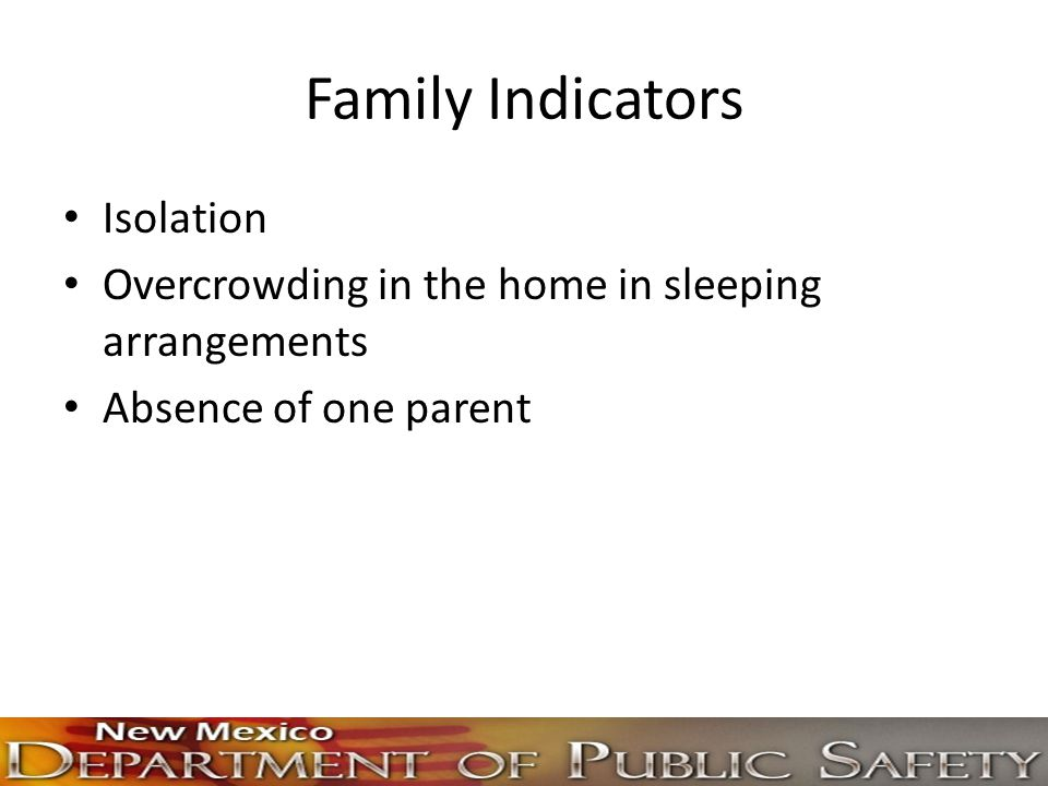 Family Indicators Isolation