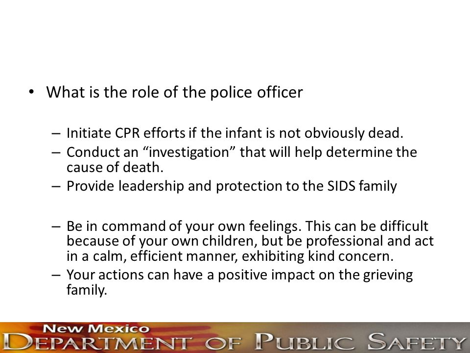 What is the role of the police officer