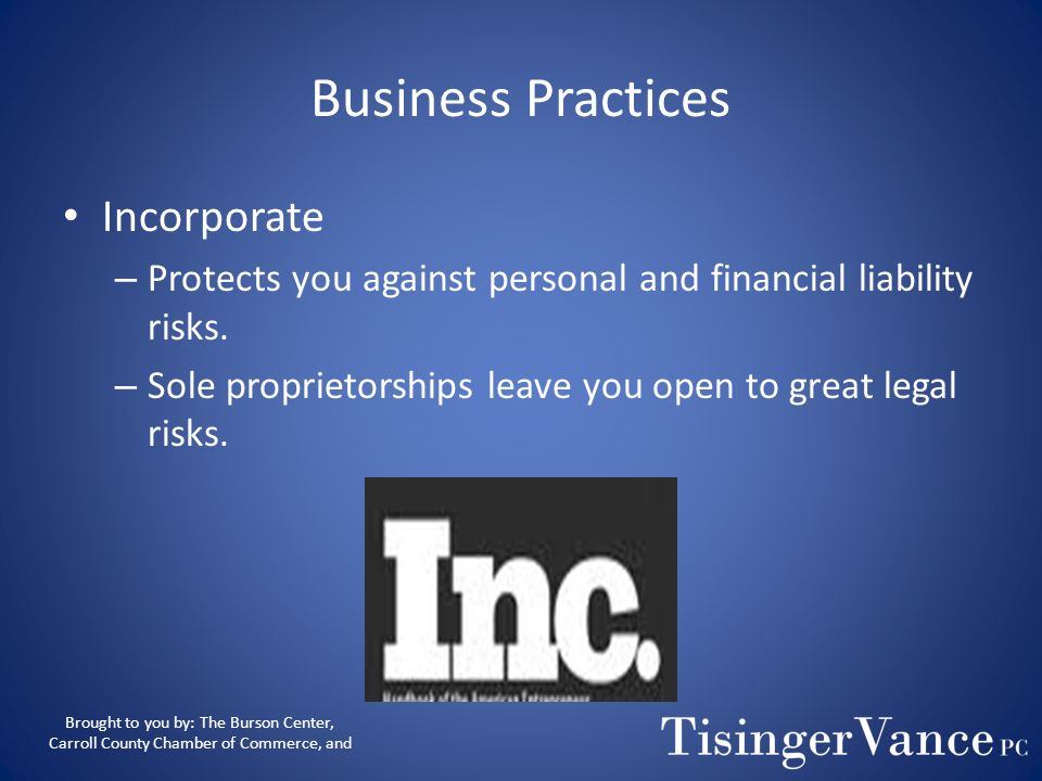 Business Practices Incorporate