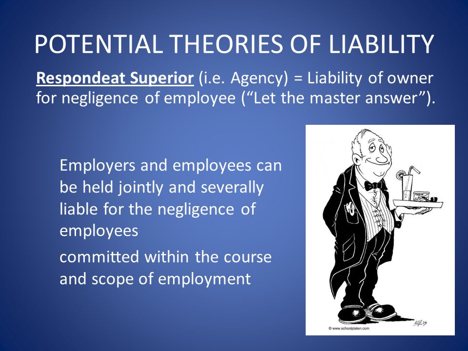 POTENTIAL THEORIES OF LIABILITY