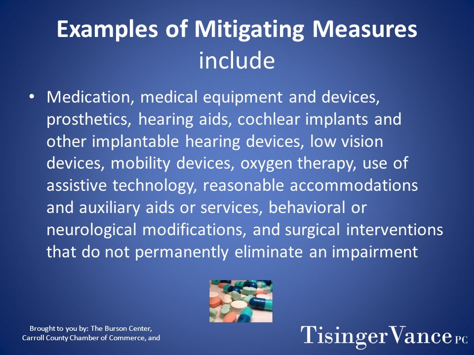 Examples of Mitigating Measures include