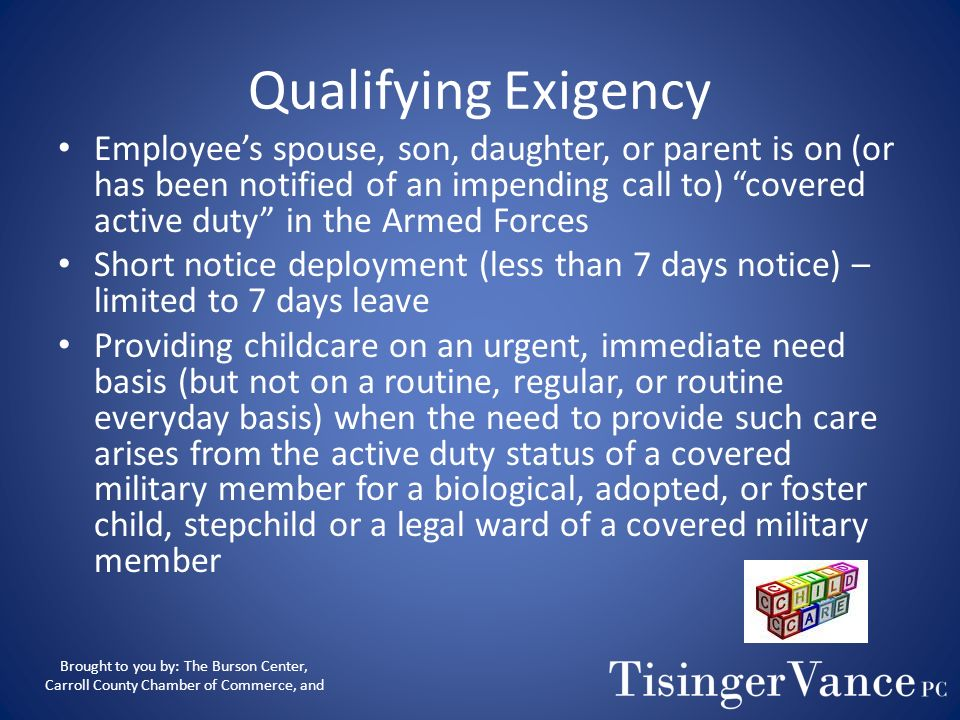 Qualifying Exigency