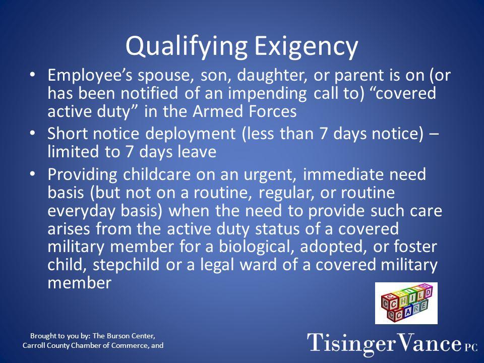 Qualifying Exigency