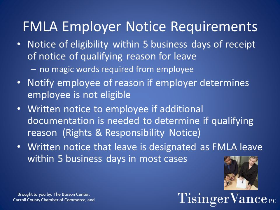 FMLA Employer Notice Requirements