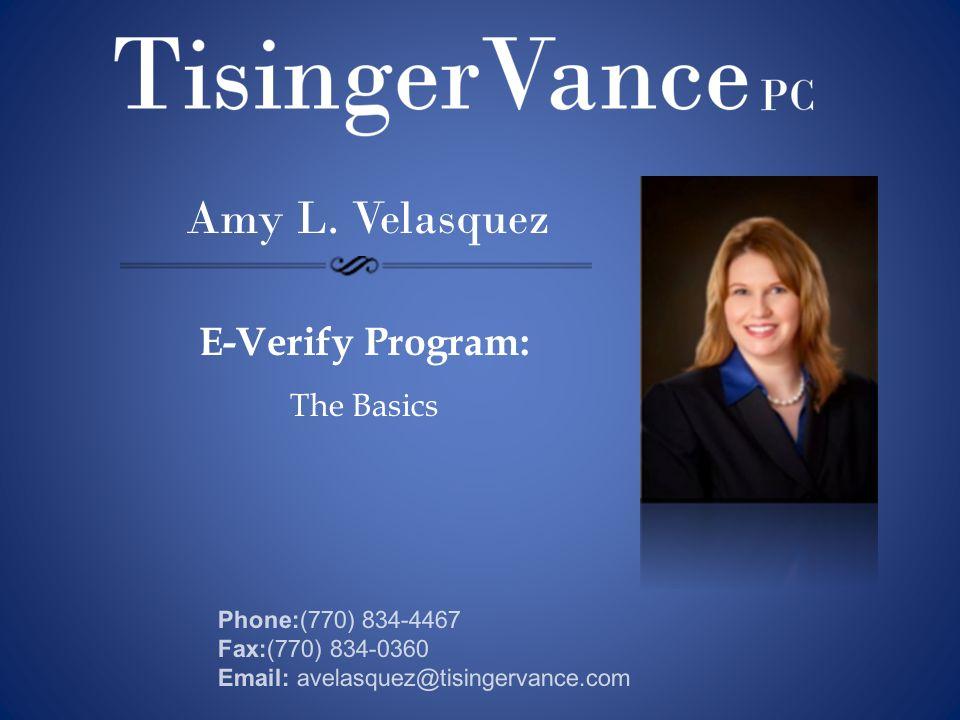 E-Verify Program: The Basics