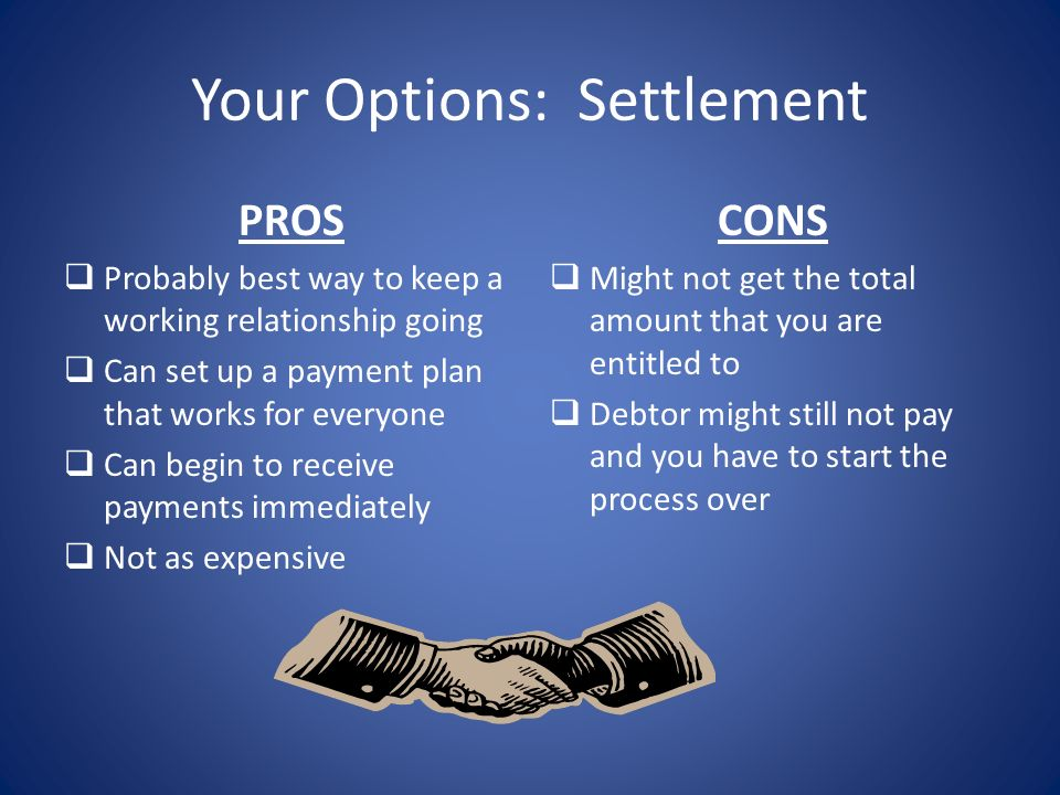Your Options: Settlement