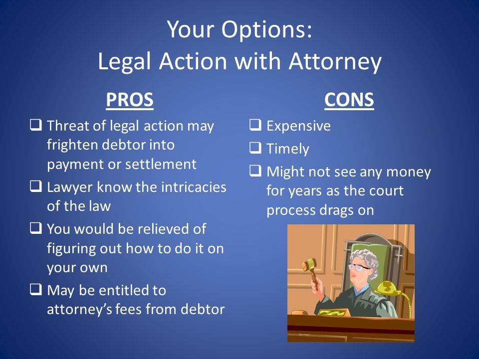 Your Options: Legal Action with Attorney