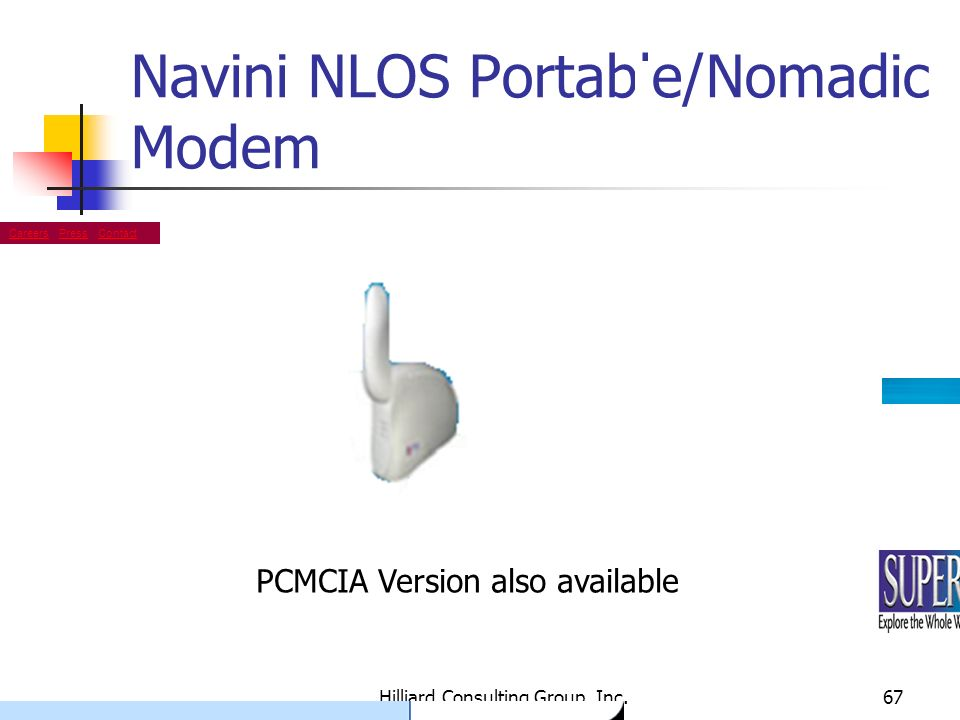 Navini NLOS Portable/Nomadic Modem