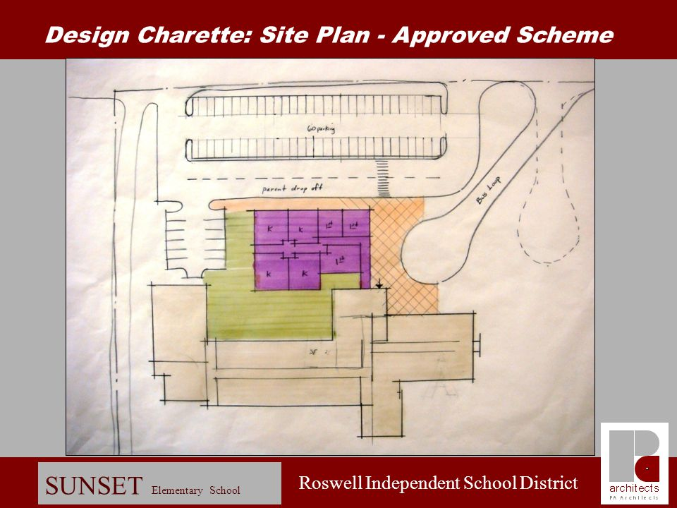 Design Charette: Site Plan - Approved Scheme