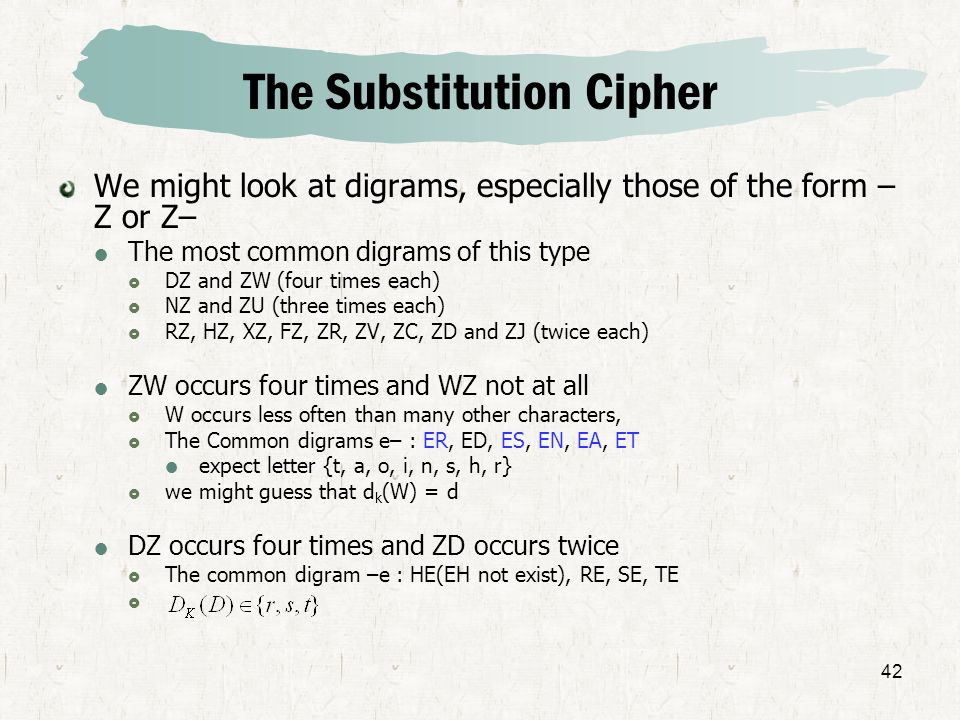 The Substitution Cipher